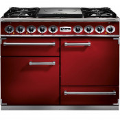 Falcon FCT1092DFRD/NM 1092 Cook Top Dual Fuel Range Cooker - Cherry Red