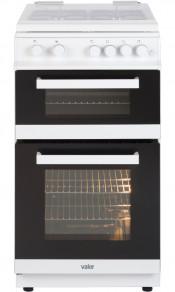 Valor V50GTLCWHI Double Oven Gas Cooker in White