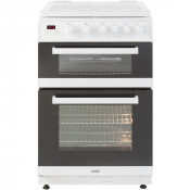 Valor V60GTCLM Single Oven Gas Cooker with Separate Grill in White