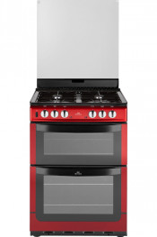 New World NW601DFDOL Dual Fuel Double Oven Cooker - Metalic Red
