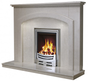 Be Modern Andorra 52 Inch Fireplace - Manila Micro Marble