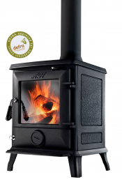 Aga Ludlow DEFRA Approved Wood Burning Stove - Matte Black