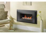 Crystal Miami Pebble Remote Control Gas Fire - Black Texture