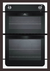 New World NW901G Gas Double Oven - White