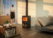 Dovre Rock 350 Wood Burning Stove - With Wood Box