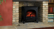 Gazco Medium Stockton Electric Stove - Matte Black
