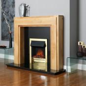 Celsi Ultiflame Essence LED Electric Fire - Satin Brass