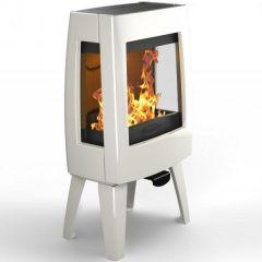 Dovre Sense 103 Wood Burning Stove - Pure White Enamel / Glass Sides