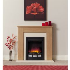 Be Modern Colston Eco Electric Fireplace - Natural Oak/Marfil Cream