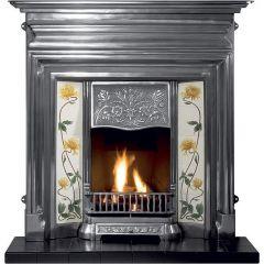 Gallery GECIF48 Edwardian Cast Iron Fireplace - Black