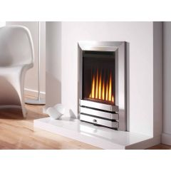 Flavel Atlanta Balanced Flue Gas Fire - Brushed Steel