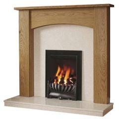 Be Modern Darwin Surround W/ Marble Fireplace - Natural Oak/Manila
