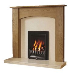 Be Modern Darwin 48 Inch Surround W/ Marble Fireplace - Natural Oak/Marfil