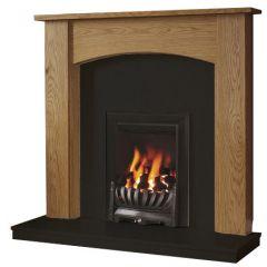 Be Modern Darwin 48 Inch Surround W/ Marble Fireplace - Natural Oak/Black Granite