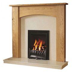 Be Modern Darwin 48 Inch Surround W/ Marble Fireplace - Golden Oak/Marfil