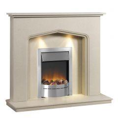 Caterham Atlanta 48 Inch Fireplace - Beige Marfil