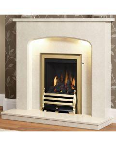 Be Modern Tasmin Marble Fireplace