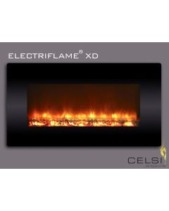 Celsi Electriflame Black Glass 1300 Wall Mounted Electric Fire