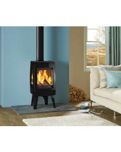 Dovre Sense 103 Wood Burning Stove - Matte Black / Glass Sides