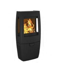 Dovre Sense 203 Wood Burning Stove - Matte Black / Glass Sides