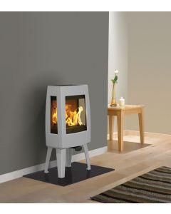 Dovre Sense 103 Wood Burning Stove - Grey Enamel / Glass Sides