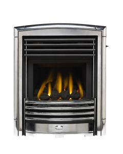 Valor Homeflame Petrus Gas Fire in Silver Chrome