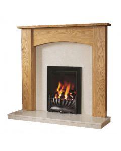 Be Modern Darwin 48 Inch Surround W/ Marble Fireplace - Golden Oak/Manila