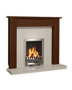 Be Modern Lewiston 48 Inch Surround W/ Marble Fireplace - Warm Oak/Manila