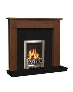 Be Modern Lewiston Surround W/ Marble Fireplace - Warm Oak/Black Granite