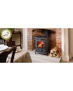 Aga Little Wenlock Classic DEFRA Approved Wood Burning Stove - Matte Black