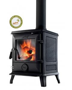 Aga Ludlow DEFRA Approved Wood Burning Stove - Matte Black