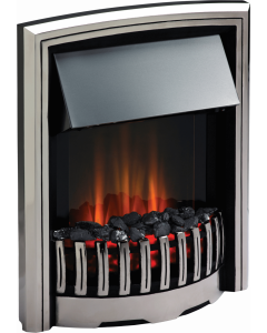 Dimplex Rockport Opti-Flame Electric Fire - Stainless Steel Shelf Wear