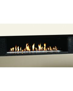 Gazco Studio 3 Edge Open Fronted Gas Fire with White Stones in Natural Gas