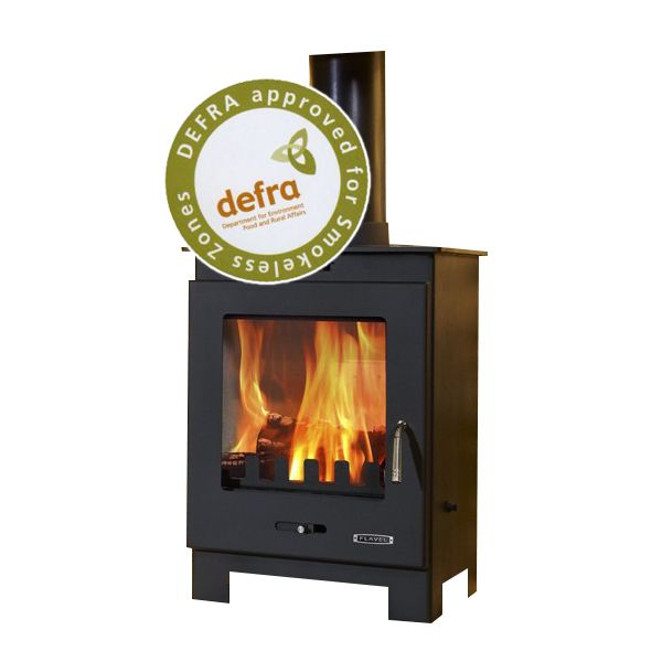 Flavel Arundel DEFRA Approved Multifuel Stove - Matte Black