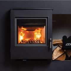 Esse 301 DEFRA Approved Inset Multifuel Stove - Black Contemporary Door