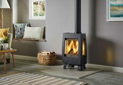 Dovre Sense 113 Wood Burning Stove - Matte Black / Glass Sides