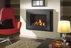Crystal Manhattan HE Log Gas Fire - Black W/ Black Interior