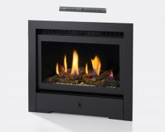 Crystal Fires Connelly Collection Reno HE Log Gas Fire - Black