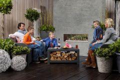 Faber Mood LPG Pebbles Gas Fire - Corten Steel Interior FREE FLUE PIPE