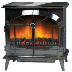 Dimplex Stockbridge Electric Stove - Gloss Black Shelf Wear
