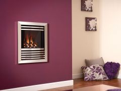Flavel Expression HE Remote Control Coal Gas Fire - Silver