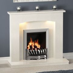 Be Modern Isabelle Fireplace - Manila Micro Marble