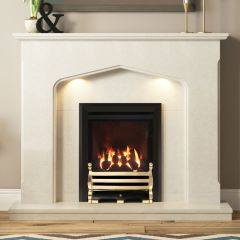 Be Modern Mataro Marble Fireplace Suite