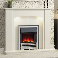 """Be Modern Somerton 48"""" Marble Fireplace Suite"""