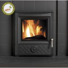 Esse 350 DEFRA Approved Inset Multifuel Stove - Black Diamond Cast Door