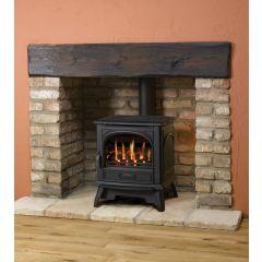 Dovre 280 Natural Gas Coals Conventional Flue Gas Stove - Matte Black