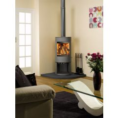 Dovre Astroline 3CB Multifuel Stove - Anthracite / With Wood Store