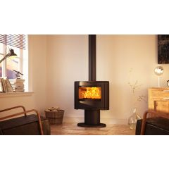 Dovre Bow Wood Burning Stove - With Pedestal