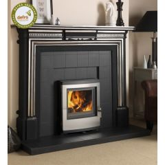 Esse 301 DEFRA Approved Inset Multifuel Stove - Stainless Steel Contemporary Door
