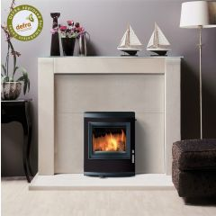 Esse 350 DEFRA Approved Inset Multifuel Stove - Black Contemporary Door